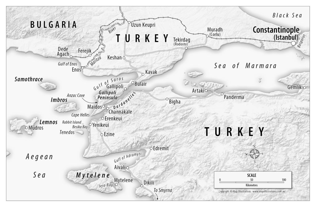 Dardenelles region - image courtesy of Map Illustrations