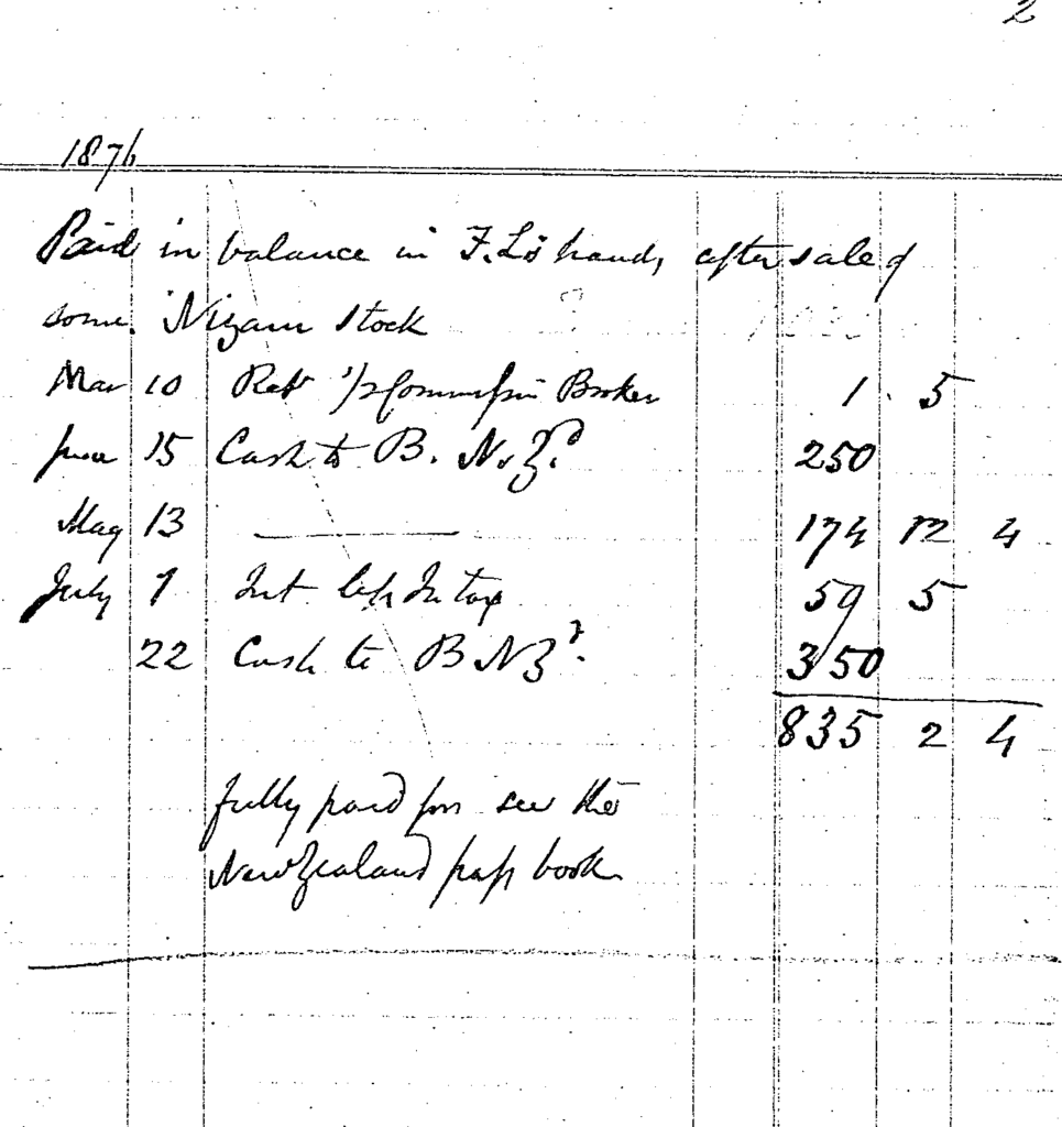 Joseph Clover account book