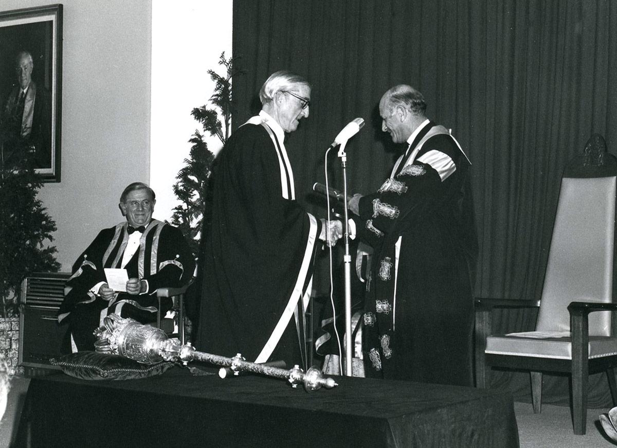 John McCulloch receiving award