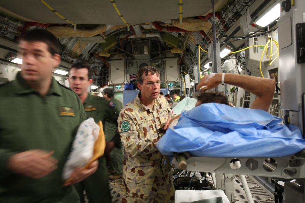 David M Scott in Afghanistan. Image courtesy of Australian Defence Force