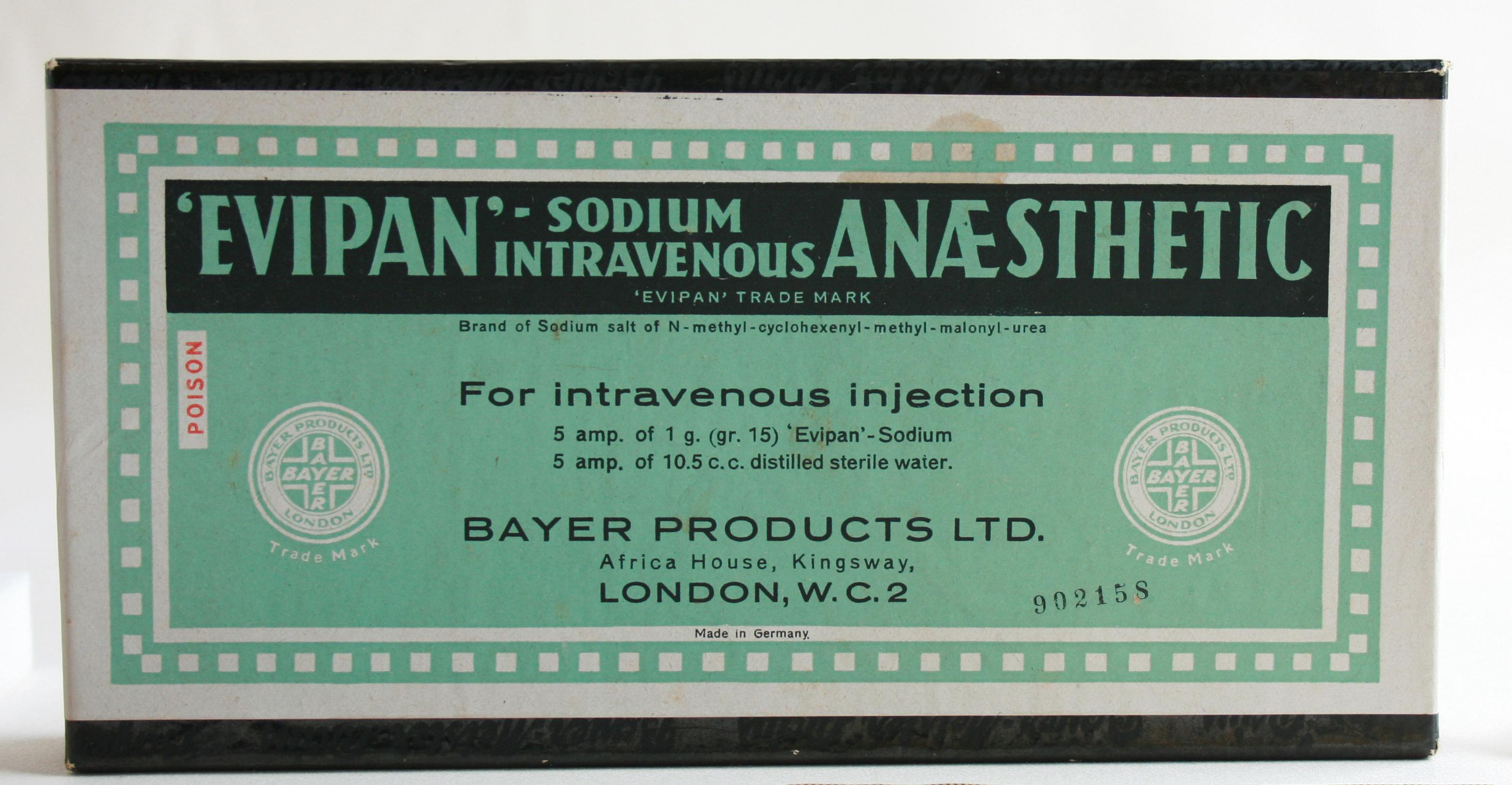 Evipan: The dark side of anaesthesia   Geoffrey Kaye Museum
